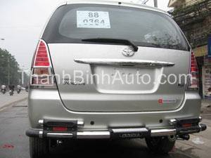 Cản sau Inox cho các loại xe _Thanhbinhauto Long Biên