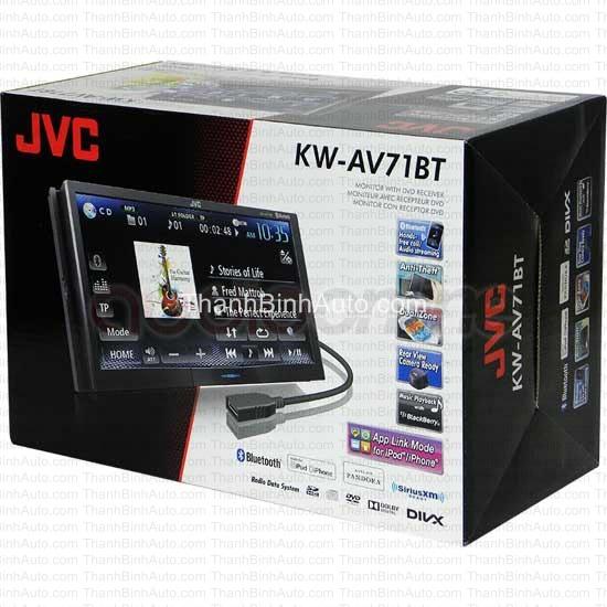 Màn hình đầu DVD JVC KW-AV71BT giá điên 5. 995k